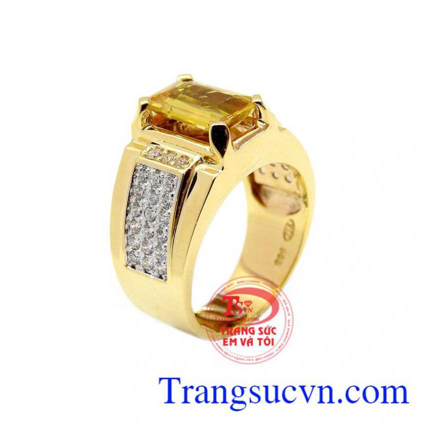 Nhẫn nam sapphire chất lượng cao