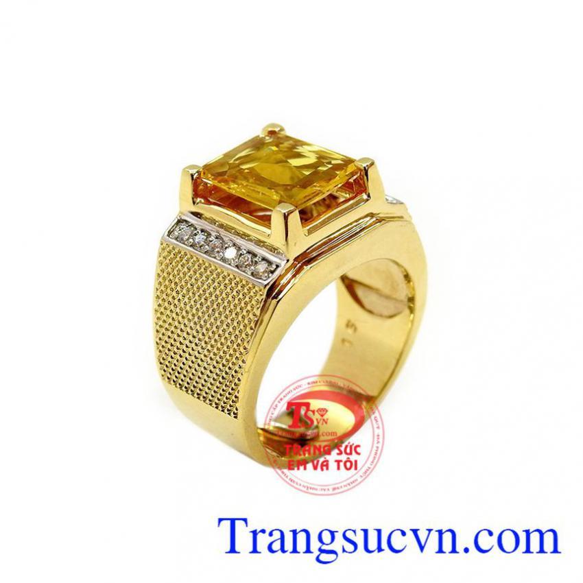 Nhẫn nam Sapphire phong cách