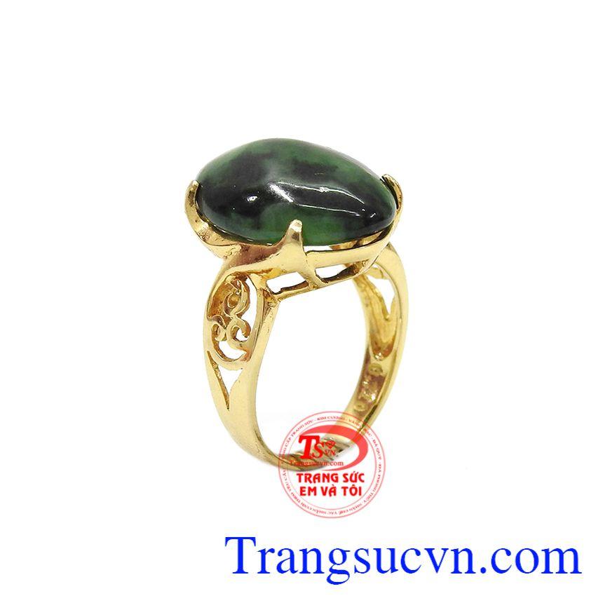 Nhẫn nữ Jadeite vàng 14k
