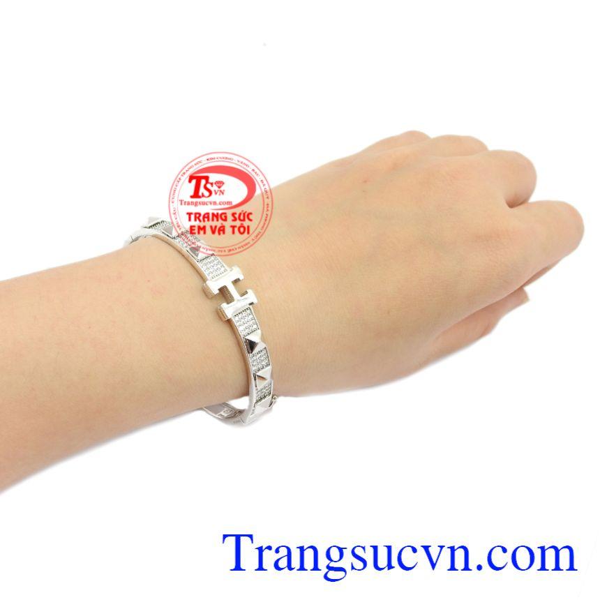Vòng tay vàng trắng Korea, giao hàng trên toàn quốc.