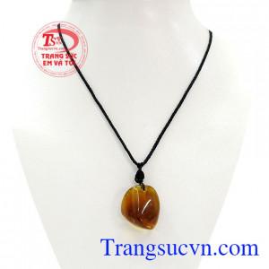 Mặt dây amber thiên nhiên