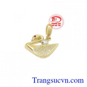 Mặt dây thiên nga vàng Korea