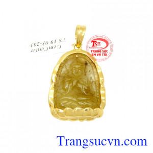 Mặt Phật tuổi Mùi-Thân bọc vàng