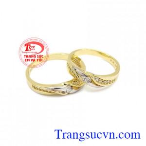Nhẫn cưới Korea 10k chất lượng được nhập khẩu nguyên chiếc từ Hàn Quốc