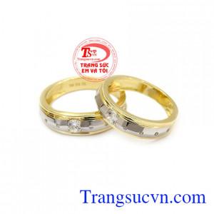 Nhẫn cưới Korea hạnh phúc được chế tác từ vàng 10k nhập khẩu nguyên chiếc