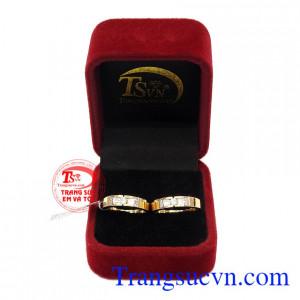 Nhẫn cưới vàng 18k tình yêu trọn vẹn