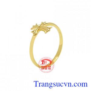 Nhẫn nữ thánh giá vàng 18k