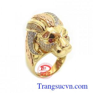 Nhẫn vàng nam sư tử