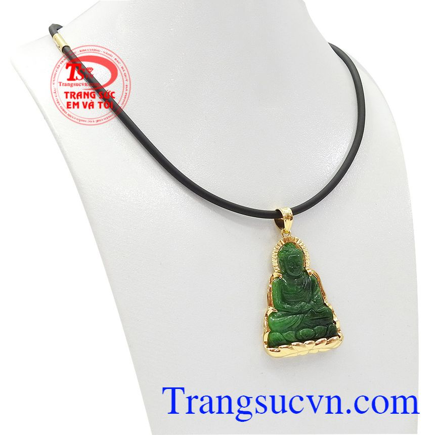 Bộ trang sức phật a di đà ngọc cẩm thạch hợp phong thủy mang đến sự bình an và may mắn.