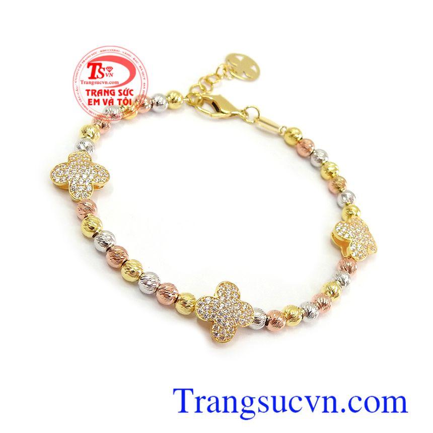 Lắc tay bi vàng xinh xắn mang lại nét dịu dàng, cá tính, thời trang và đẳng cấp, phù hợp nhiều trang phục khác nhau Lắc tay bi vàng xinh xắn
