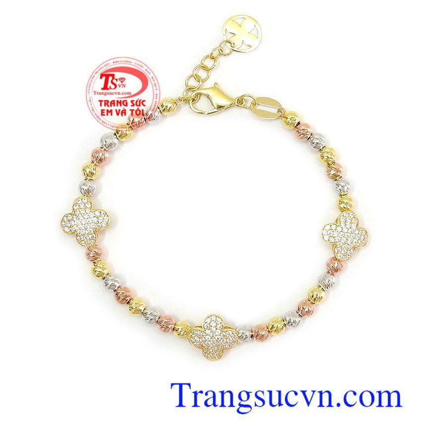 Lắc tay vàng tây bền đẹp, chất lượng, phù hợp làm quà tặng cho người yêu thương Lắc tay bi vàng xinh xắn