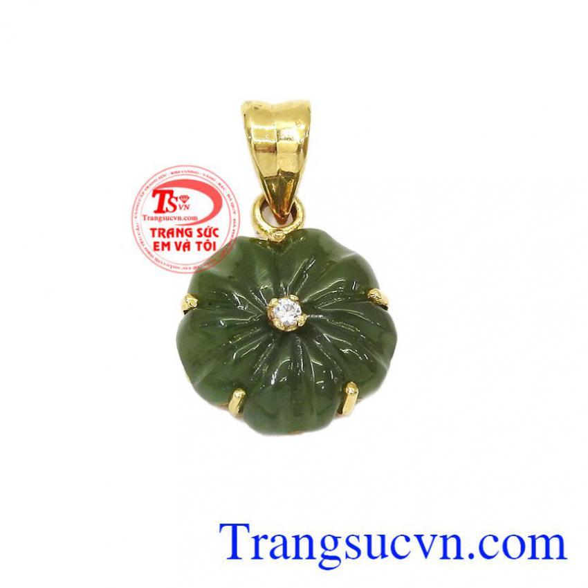 Mặt dây chuyền vàng tây đính đá cho nữ thời trang