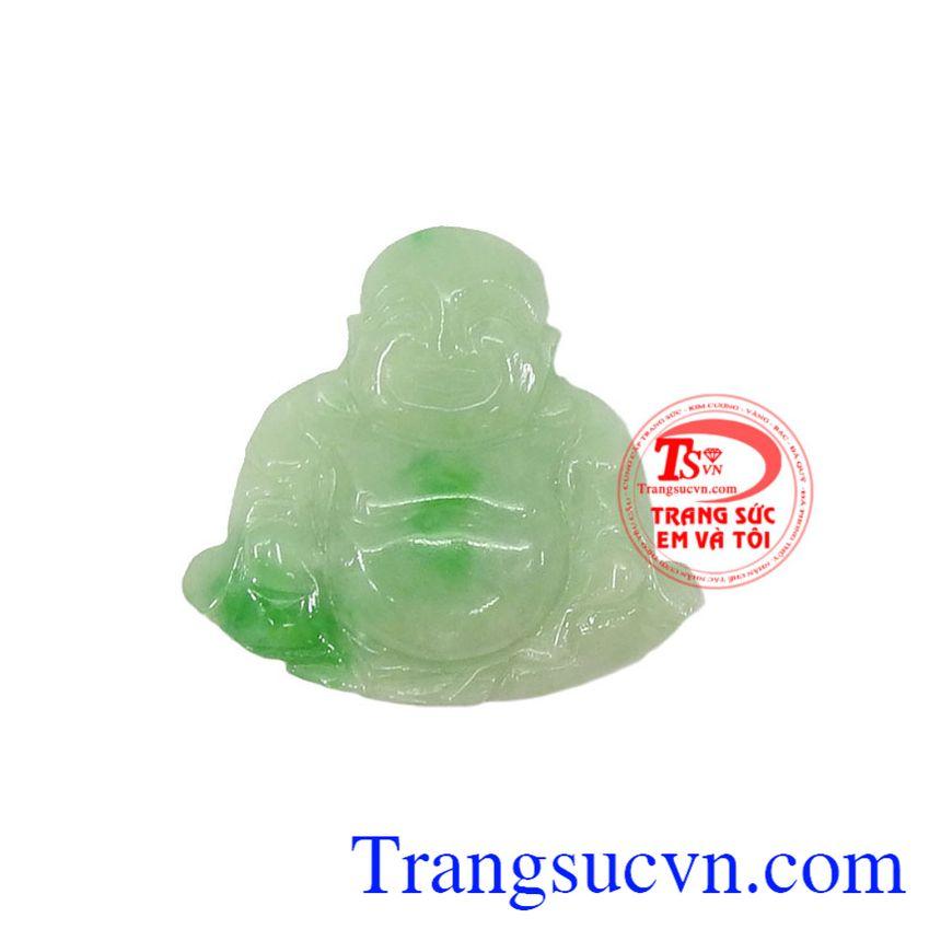 Mặt ngọc jadeite Phật Di Lặc Tài Lộc