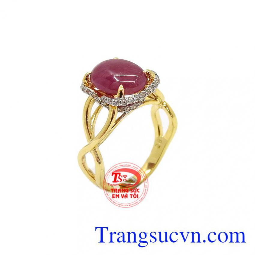 Nhẫn nữ Ruby vàng 10k