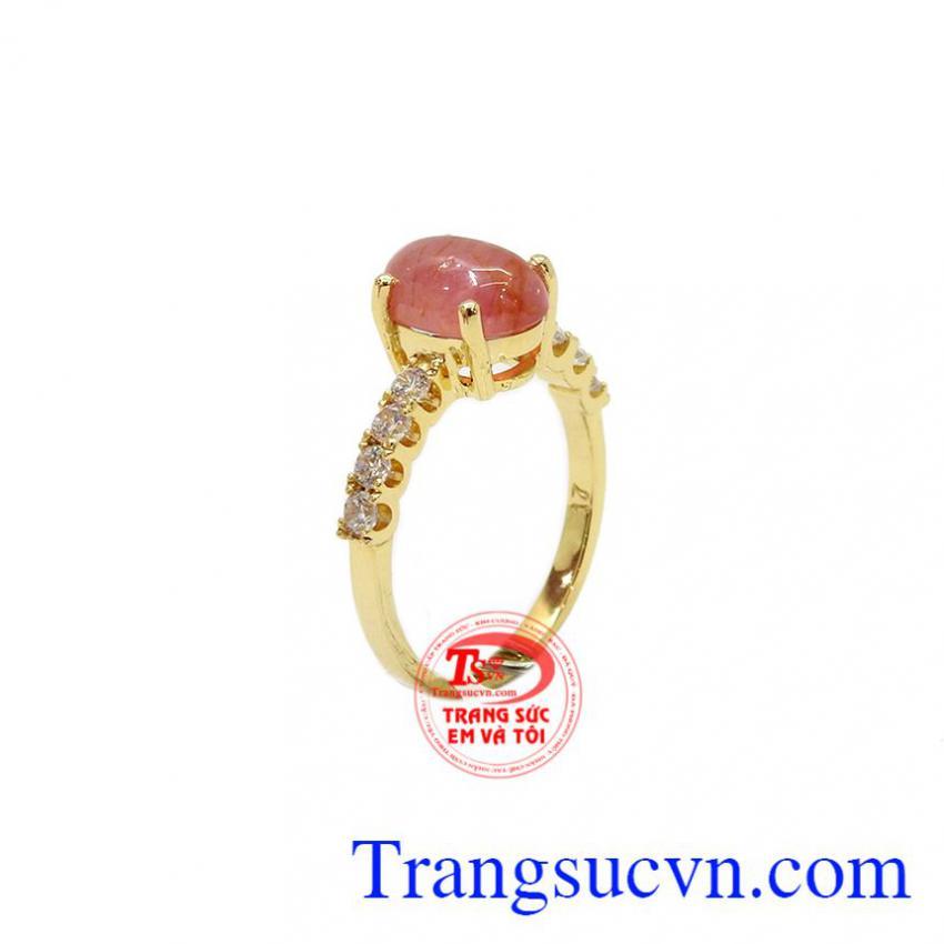 Nhẫn nữ Sapphire vàng 10k