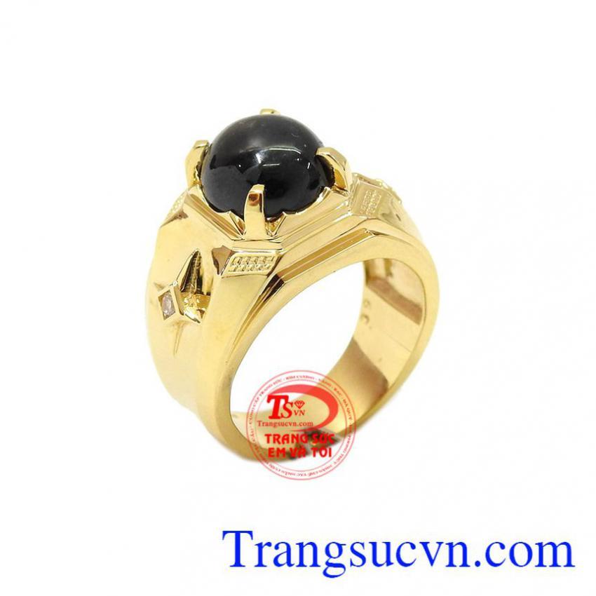 Nhẫn sapphir thiên nhiên thời trang