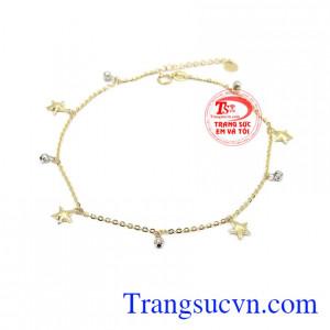 Lắc chân ngôi sao may mắn là sản phẩm được nhập khẩu từ Hàn Quốc, sản phẩm đẹp được các bạn nữ yêu thích