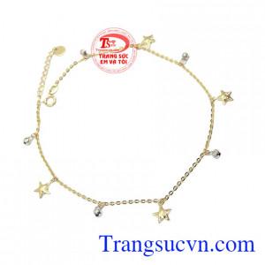 Lắc chân ngôi sao may mắn tôn lên vẻ đẹp xinh xắn, thời trang dành cho bạn nữ