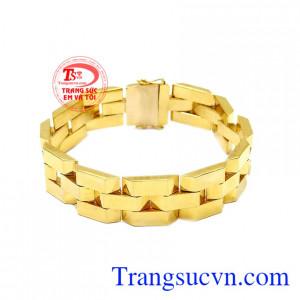 Lắc tay nam mạnh mẽ vàng 10k