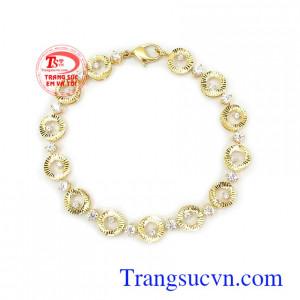 Lắc tay vàng tây 10k là món quà ý nghĩa cho người yêu thương Lắc tay nữ 10k cá tính