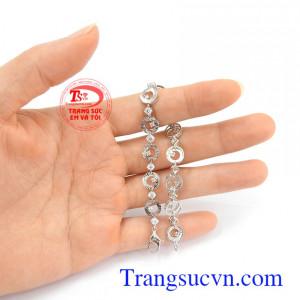 Lắc tay nữ 10k cá tính vàng trắng uy tín, chất lượng, giao hàng nhanh trên toàn quốc Lắc tay nữ 10k cá tính vàng trắng