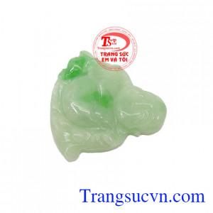 Mặt ngọc jadeite Phật Di Lặc Tài Lộc có giấy kiểm định, giao hàng nhanh trên toàn quốc
