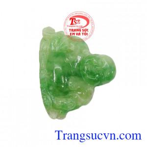 Mặt ngọc Phật Di Lặc bình yên có giấy kiểm định đá tự nhiên, giao hàng nhanh trên toàn quốc