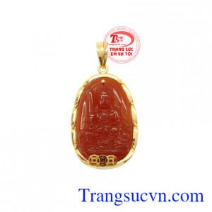 Mặt Phật bản mệnh tuổi Mão bọc vàng