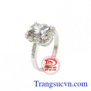 Nhẫn bạc đá quý đẹp TSVN