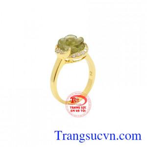 Nhẫn hoa tinh tế Tourmaline