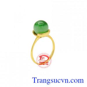 Nhẫn nữ cẩm thạch vàng 14k