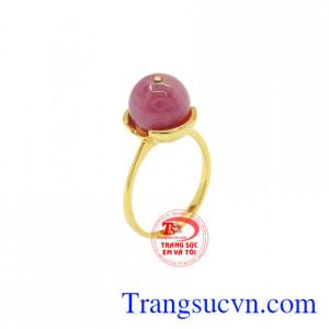 Nhẫn nữ Ruby vàng 14k đẹp