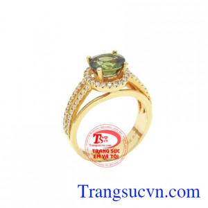 Nhẫn nữ sapphire 18k quý phái