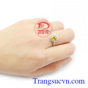 Nhẫn nữ Sapphire chất lượng được kiểm định chất lượng đảm bảo uy tín