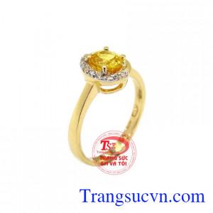 Nhẫn nữ sapphire độc đáo