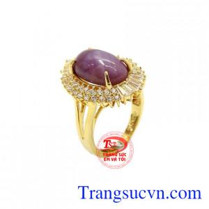 Nhẫn nữ Sapphire vàng 10k đẹp