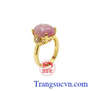 Nhẫn nữ Sapphire vàng 10k tinh tế