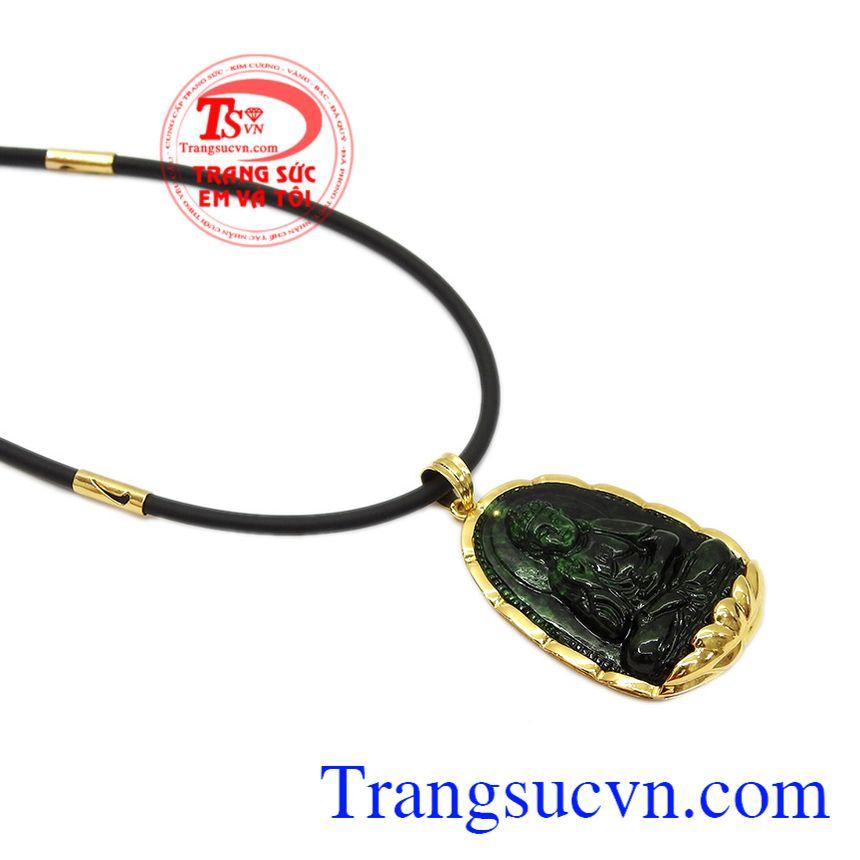 Sản phẩm có thể kết hợp với dây chuyền vàng hoặc dây da, dây cao su bọc vàng. Bộ trang sức phật jadeite tuổi tuất-tuổi hợi