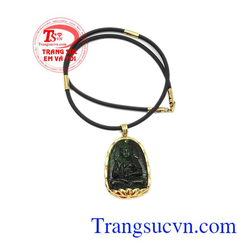 Mặt dây chạm khắc tinh tế, hợp phong thủy. Bộ trang sức phật jadeite tuổi tuất-tuổi hợi.