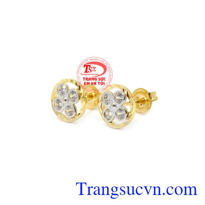 Trang sức Em và Tôi nhận đặt hàng theo yêu cầu của khách hàng. Hoa tai nữ hoa vàng 10k Korea
