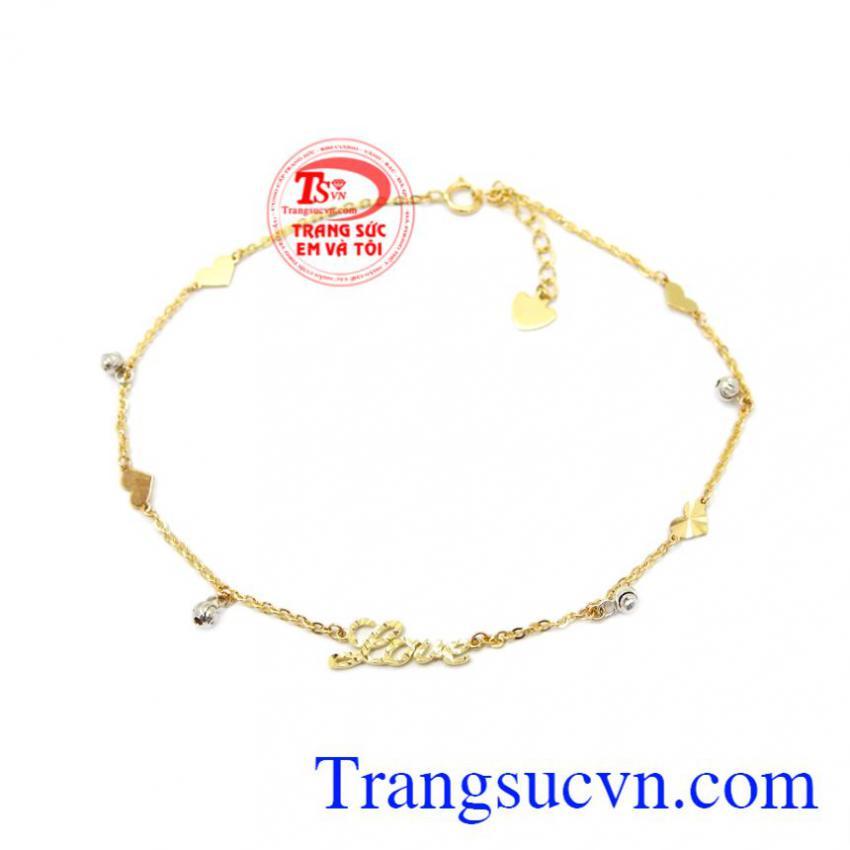Lắc chân vàng 10k Korea
