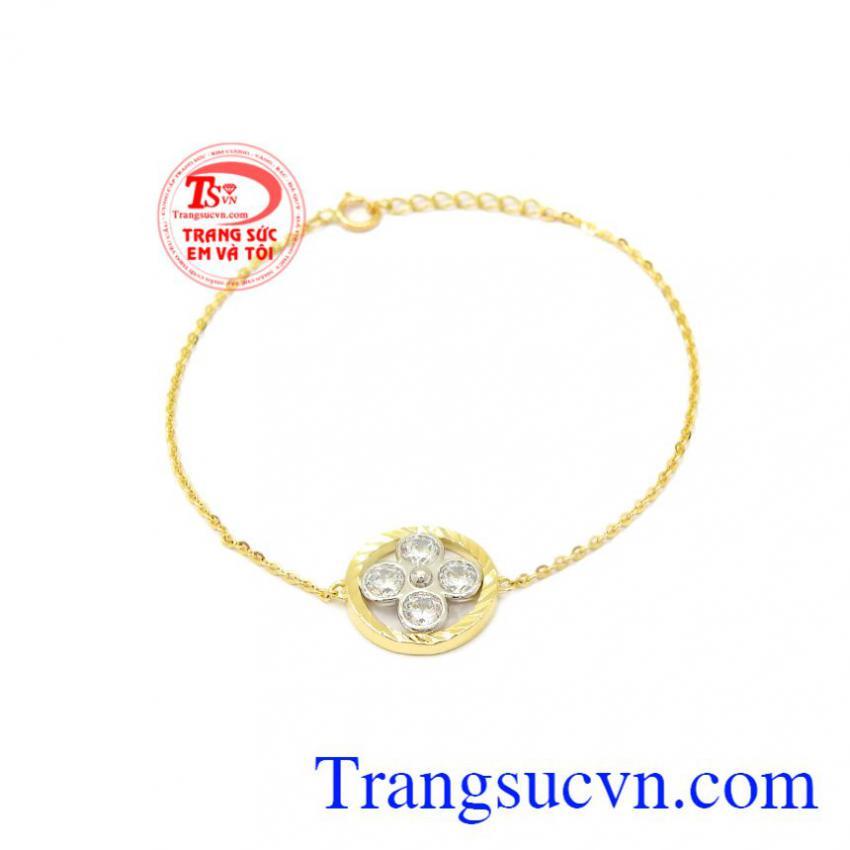 Lắc tay nữ hoa vàng 10k Korea