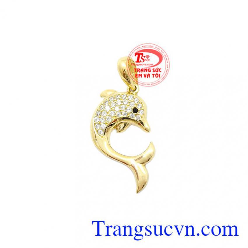 Mặt dây nữ cá vàng 10k Korea