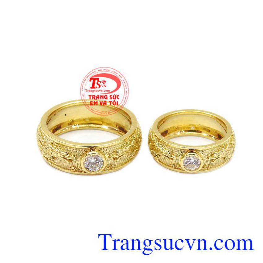 Nhẫn cưới song long chầu nguyệt