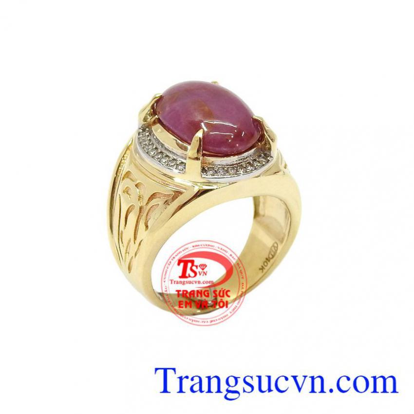 Nhẫn Nam Ruby vàng 10k