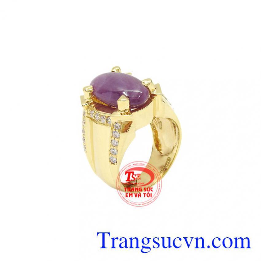 Nhẫn nam Sapphire vàng 10k