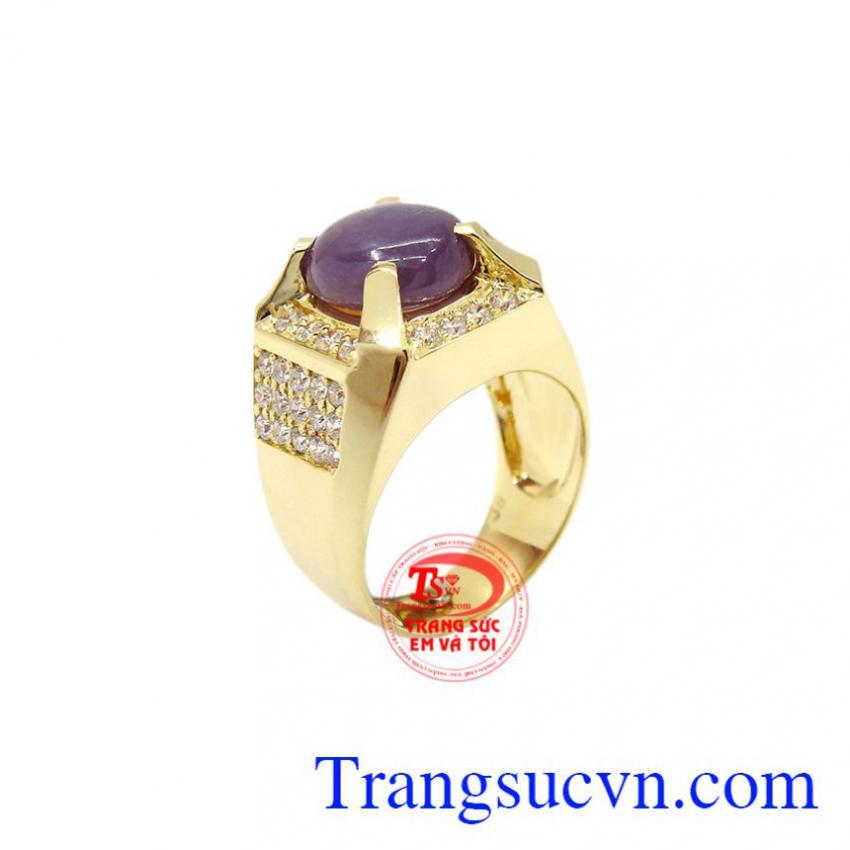 Nhẫn nam vàng Sapphire đẹp