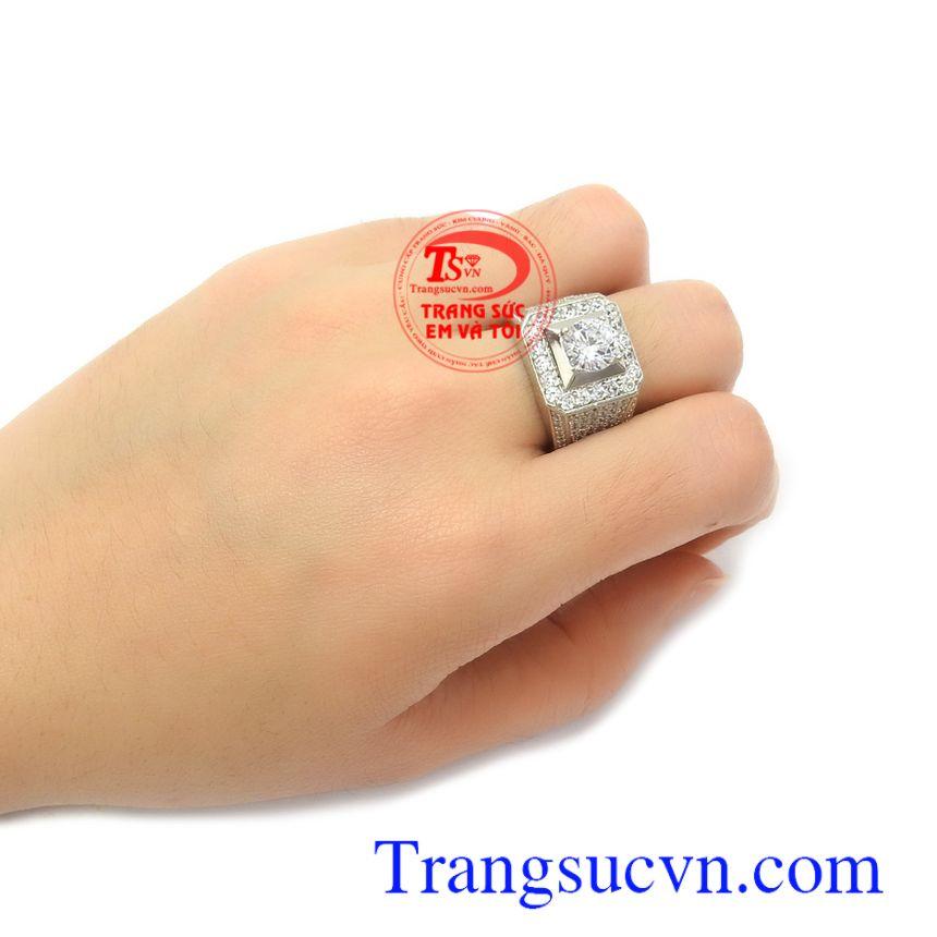 Nhẫn nam vàng trắng Hàn Quốc thời thượng là món quà ý nghĩa cho người yêu thương