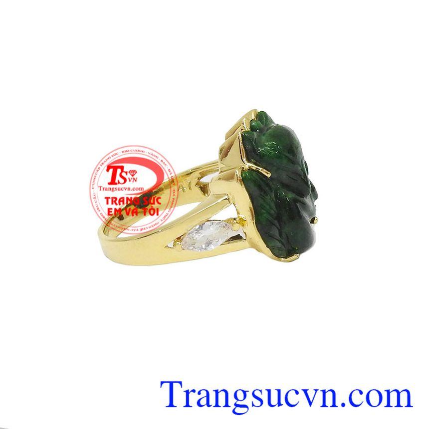 Nhẫn nữ hồ ly được chế tác từ 18k, bảo hành 12 tháng, giao hàng nhanh trên toàn quốc
