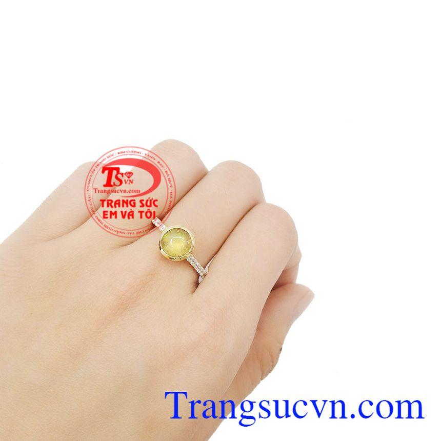 Nhẫn nữ Opal đẹp